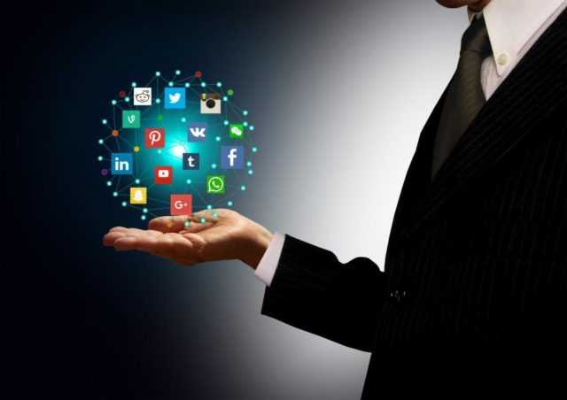 businessman holding hologram with social media network icons 640x452 - Home